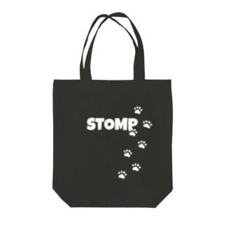 STOMP🐾(White) Tote bags