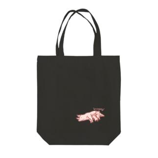 豚社会のマナー Tote bags