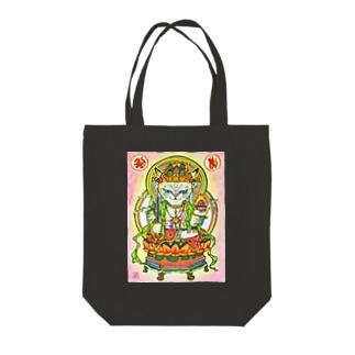 にゃんこDE虚空蔵菩薩 Tote bags