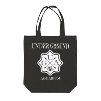 UGA ロゴ 【WHITE】 Tote bags