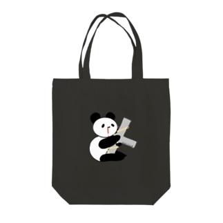 Cross パンダ Tote bags
