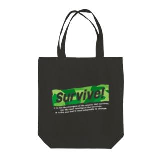 survive! Tote bags