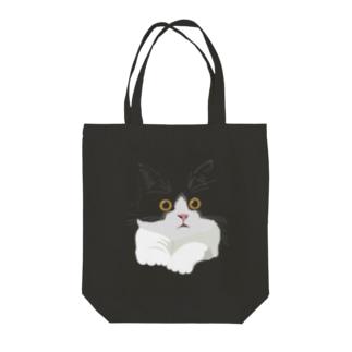 はちわれ猫 Tote bags