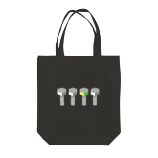 line-up-bolts2 Tote bags