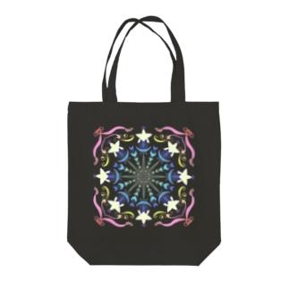 星と三日月の魔方陣 Tote bags