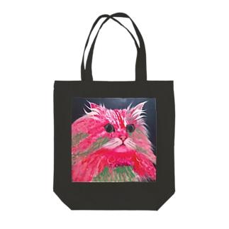 Rhodonite Cat(ロードナイト キャット) Tote bags