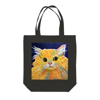 Orange Calcite Cat(オレンジ カルサイト キャット) Tote bags