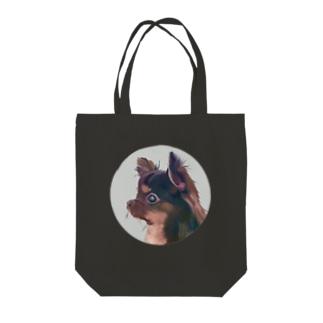 近所のわんちゃん Tote bags