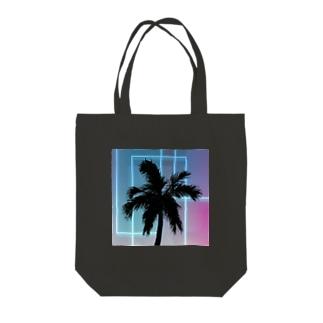 ネオン椰子 Tote bags