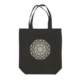 曼荼羅-izayoi white line Tote bags