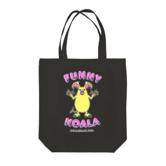 FUNNY KOALA Tote bags