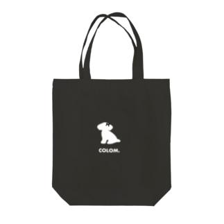 コロ。COLOM.犬いぬdogリボングッズ.のCOLOM.トイプードル!人気かわいい!いぬ犬グッズ!といぷーどる Tote bags