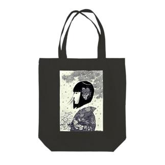 春の女 モノクロver. Tote bags