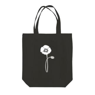 アネモネホワイト Tote bags