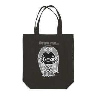 【各5点限定】アマビエさま(nega/mono) Tote bags