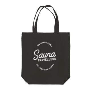 suuminのSauna TRAVELLERS Circle White Tote bags
