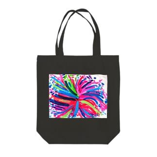 カラフルパーティー Tote bags
