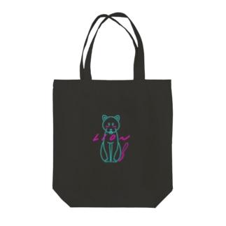 ユリカのブルーライオン(黒地version) Tote bags