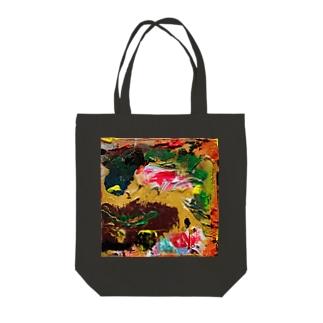 ピンク&ダークカラーの風景 Tote Bag