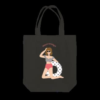 merf_design のおしゃサングラス女子 Tote bags