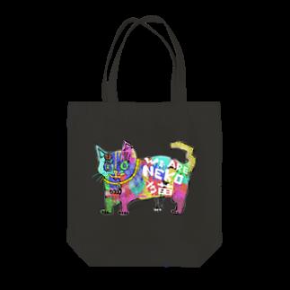 ZENART(ゼンアート)のカラフルな猫 そうカラネコ Tote bags