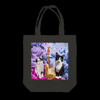 Anela'sGiftのロック猫 Tote bags
