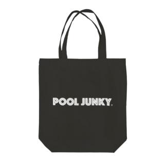 POOL JUNKY Tote bags