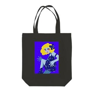 セクシーな青い女 Tote bags