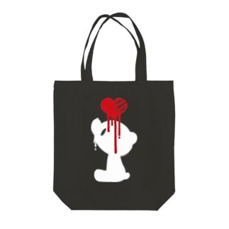 【各20点限定】いたずらぐまのグル〜ミ〜(17/white) Tote bags