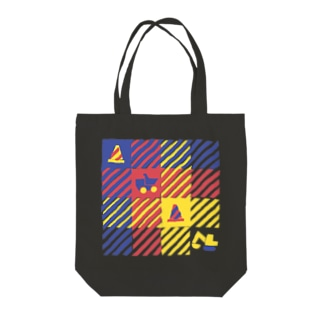 CONSTRUCTION CHECK Tote bags