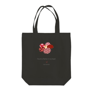 sssss___sssssのRed Camellia Tote bags