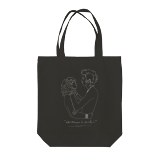 """carpediemの""""What Makes your So Great By me"""" Tote bags"""