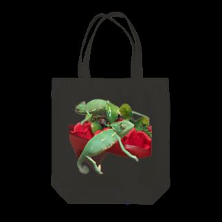 N-Reptilesのエボシカメレオン Tote bags