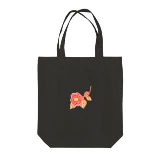 輝石花・椿 Tote bags