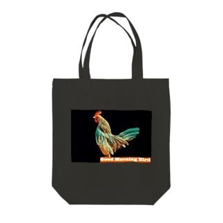 おはよう鳥トートバッグ Tote bags