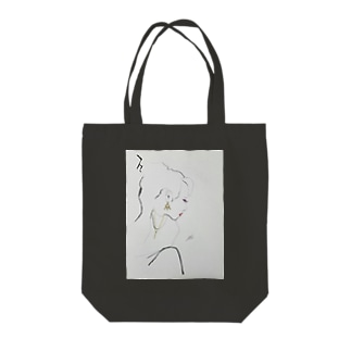 女性の横顔 Tote bags