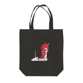 Scared Chicken Tote bags