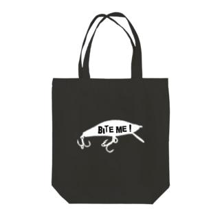 BITE ME! Tote bags