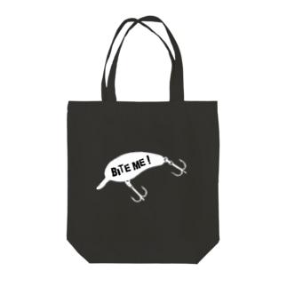BITE ME! クランクちゃん! Tote bags