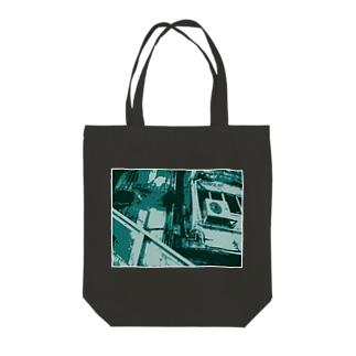 眠る街。2(碧/フチ有②) Tote Bag