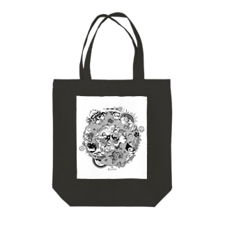 第三惑星第三者イラスト(黒) Tote bags