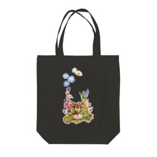 花咲かCAT Tote bags