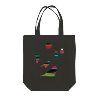 KAERUCAFE SHOPの虹のとり Tote bags