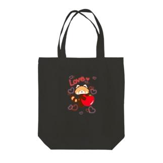 AKITO。とおにぎり。のレッサーパンダにはリンゴを★ Tote bags