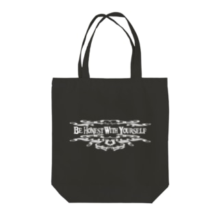 Be Honest With Yourself(WHITE) Tote bags