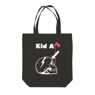 Kid A Tote bags