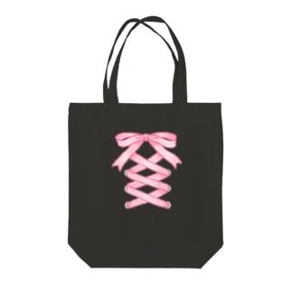 mumu_02のリボンちゃん Tote bags