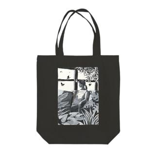 バタフライガーデン Tote bags