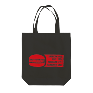 BigmamacafeのBigmamacafe レッドロゴ Tote bags