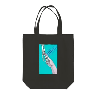 「hold hands」 Tote bags